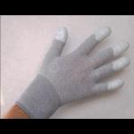 Антистатические перчатки трикотажные, нейлоновые, с покрытием пальцев