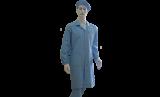 Антистатический халат, голубой, мужской