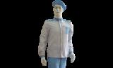 Антистатический костюм, женский, бело-голубой