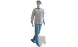 Антистатический костюм, мужской, бело-голубой