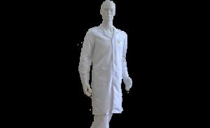 Антистатический халат, укороченный, мужской, белый