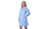 Антистатический халат голубого цвета, женский