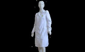 Антистатический халат, укороченный, женский, белый
