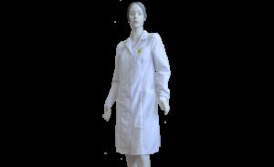 Антистатический халат, женский, белый
